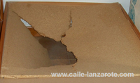 Kaputtes Spanholz auf Lanzarote